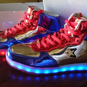 Starbury Independence Day LED Sneakers Size 11